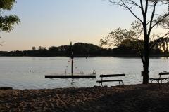 2017 sunset at the lake